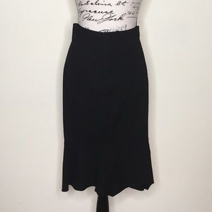 Women's pencil skirt with flare on the bottom